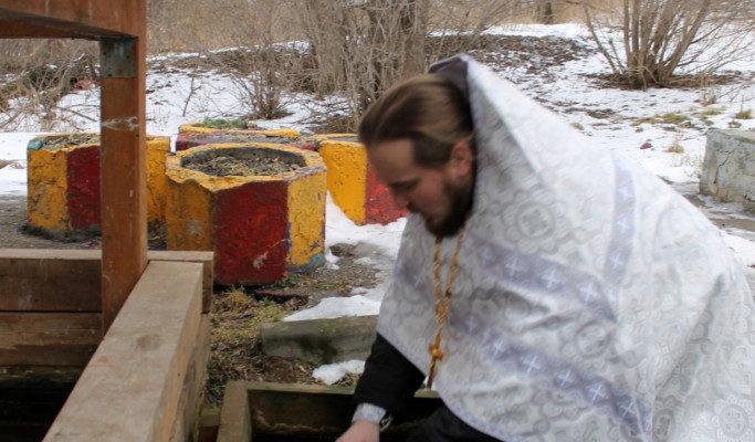Праздник Крещения Господня в храме. Крестный ход